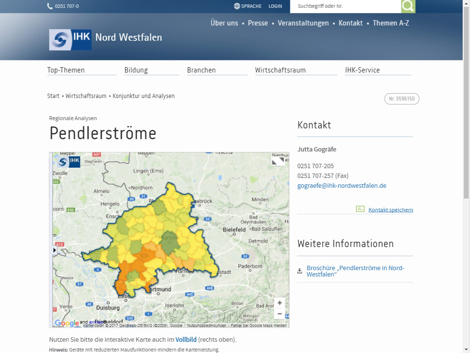 Screenshot Pendleratlas